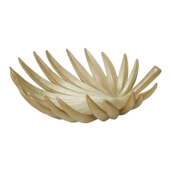 banana gold leaf serving tray decorative bowl 2