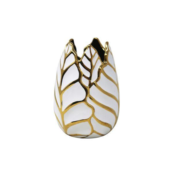decorative gold leaf me vase
