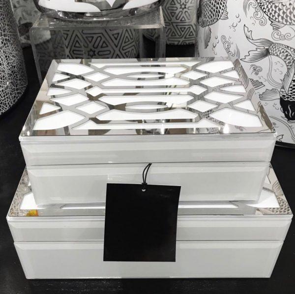 decorative boxes silver
